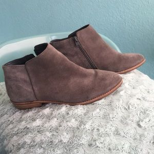 Gray ankle booties!